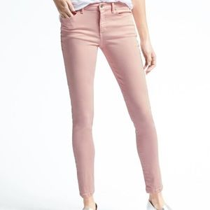 Banana Republic Skinny Pink Jeans Ankle Length